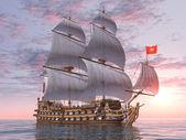 French Warship — Stock Photo