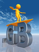 GB Top Level Domain — Stock Photo