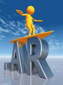 AR Top Level Domain of Argentina — Stock Photo