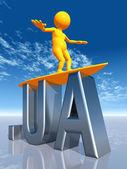 UA Top Level Domain of the Ukraine — 图库照片