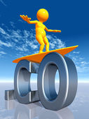 CO Top Level Domain of Colombia — Stock Photo