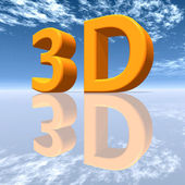 3D (Three-Dimensional) — Stock Photo