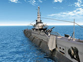 Submarine USS Trigger — Stock Photo