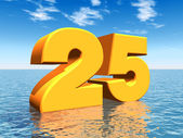 The Number 25 — Stock Photo