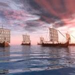 Постер, плакат: Viking Ships