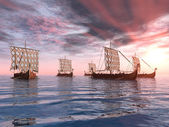 Barcos vikingos — Foto de Stock