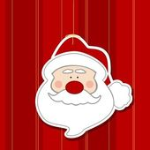 Santa sticker — Stockfoto