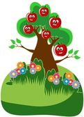 Apple Tree Cartoon — Stock Photo