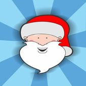Santa Clause Head — 图库照片