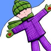 Winter Child Illustration — Stock Photo