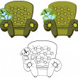 Stock Vector: Armchair Cartoon