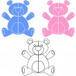 Teddy Bear Decal — Vector de stock #16099071