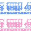 Train Decal — Stock vektor #16099749