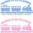 Train Decal — Stock vektor