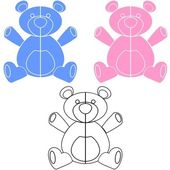 Teddy Bear Decal — Vettoriale Stock