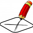 Pencil with an x — Stock Photo