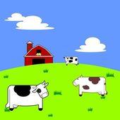 Cartoon Cows — Stock Vector