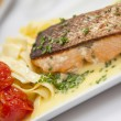Salmon plate - Stock Photo