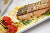 Salmon plate — Stock Photo