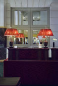 Ontvangst door frankrijk hotel — Stockfoto