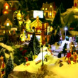 Stock Video: Toy village