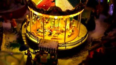 Toy village — Stock Video