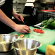 Stock Video: Making a vegetarian pasta