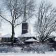 Winter dutch village — Stock Photo