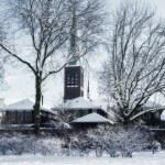 Winter dutch village — Stock Photo