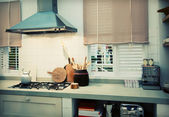 Country style kitchen — Stock Photo