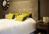 Cama textiles — Foto de Stock