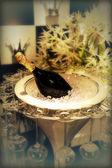 Šampaňské v misce — Stock fotografie