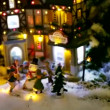 Stock Video: Christmas toy village
