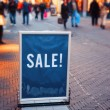 Winter sale on street — Stock Photo