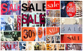 Winter sale collage — Stock Photo