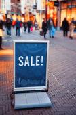 Winter sale on street — Stock Photo