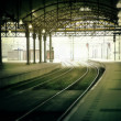 Stock Photo: Morning rail station