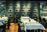 Decorative restaurant wall — Stock Photo