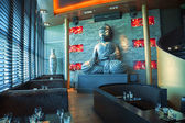 Buddha in restaurant — Stock Photo