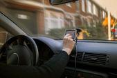 Mujer en coche — Foto de Stock