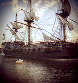 Historisches schiff — Stockfoto