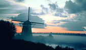 Dutch morning landscape — Stock Photo
