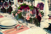 Celebration table — Stock Photo