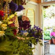 Flowers shop with garden — Stock Photo