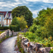 Stock Photo: English evening village