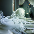 Glass on luxury table  — Stock Photo