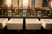 Stylish washroom in restaurant — Stockfoto