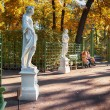 Garden by autumn in St-Petersburg — Stock Photo #35713837