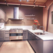 Detail of modern kitchen — Stock Photo