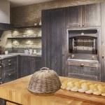 Detail of wooden kitchen — Stock Photo #35714933